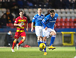 Partick Thistle v St Johnstone&hellip;23.02.16   SPFL   Firhill, Glasgow<br />Plamen Krachunov on his debut<br />Picture by Graeme Hart.<br />Copyright Perthshire Picture Agency<br />Tel: 01738 623350  Mobile: 07990 594431
