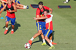 Spanish Alvaro Morata and Juan Mata during the first training of the concentration of Spanish football team at Ciudad del Futbol de Las Rozas before the qualifying for the Russia world cup in 2017 August 29, 2016. (ALTERPHOTOS/Rodrigo Jimenez)