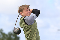 Darragh Behan (Naas) on the 14th tee during the Final round in the Connacht U16 Boys Open 2018 at the Gort Golf Club, Gort, Galway, Ireland on Wednesday 8th August 2018.<br /> Picture: Thos Caffrey / Golffile<br /> <br /> All photo usage must carry mandatory copyright credit (&copy; Golffile | Thos Caffrey)