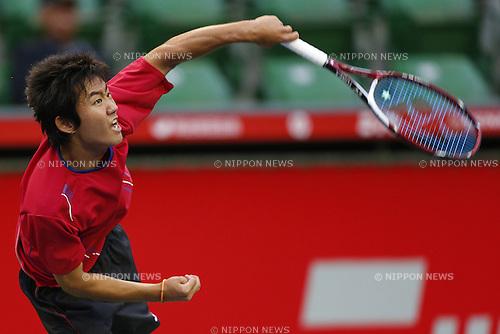 Ryoji Nishioka, NOVEMBER 9, 2013 - Tennis : NIKKE All Japan Tennis Championships 88th Men's Single semi final match at Ariake Colosseum in Tokyo, Japan. (Photo by AFLO SPORT) [0006]