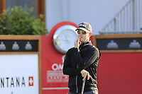 Brandon Stone (RSA) waits to tee off the 1st tee during Thursday's Round 1 of the 2017 Omega European Masters held at Golf Club Crans-Sur-Sierre, Crans Montana, Switzerland. 7th September 2017.<br /> Picture: Eoin Clarke | Golffile<br /> <br /> <br /> All photos usage must carry mandatory copyright credit (&copy; Golffile | Eoin Clarke)