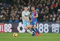 Crystal Palace's James McArthur and West Ham United's Declan Rice<br /> <br /> Photographer Rob Newell/CameraSport<br /> <br /> The Premier League - Saturday 9th February 2019  - Crystal Palace v West Ham United - Selhurst Park - London<br /> <br /> World Copyright © 2019 CameraSport. All rights reserved. 43 Linden Ave. Countesthorpe. Leicester. England. LE8 5PG - Tel: +44 (0) 116 277 4147 - admin@camerasport.com - www.camerasport.com