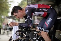 Nicola Conci (ITA/Trek-Segafredo) warming up<br /> <br /> Stage 9 (ITT): Riccione to San Marino (34.7km)<br /> 102nd Giro d'Italia 2019<br /> <br /> ©kramon
