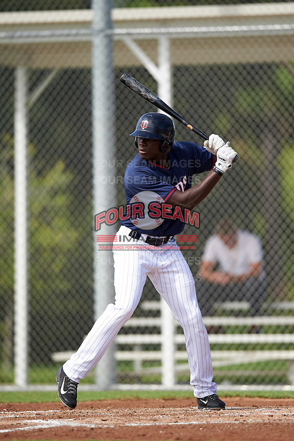 Minnesota Twins Isaiah Aluko (74) during an Instructional League game against the Boston Red Sox on September 24, 2016 at CenturyLink Sports Complex in Fort Myers, Florida.  (Mike Janes/Four Seam Images)