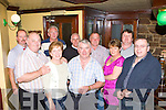 Jim O'Connor Abbeylands, Milltown still celebrating his 50th birthday with his friends in Larkin's bar, Milltown on Saturday night front row l-r: Mike, Breda McCarthy, Jim O'Connor, Ann Maher, Donie Corkery. Back row: Tom Murphy, Mike Herlihy, Jerry Corkery, Pat Maher, Gerard O'Dowd
