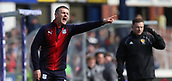 17th March 2019, Dens Park, Dundee, Scotland; Ladbrokes Premiership football, Dundee versus Celtic; Dundee Manager Jim McIntyre shouts instructions