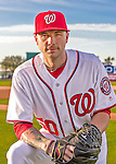 28 February 2016: Washington Nationals pitcher Aaron Laffey poses for his Spring Training Photo-Day portrait at Space Coast Stadium in Viera, Florida. Mandatory Credit: Ed Wolfstein Photo *** RAW (NEF) Image File Available ***