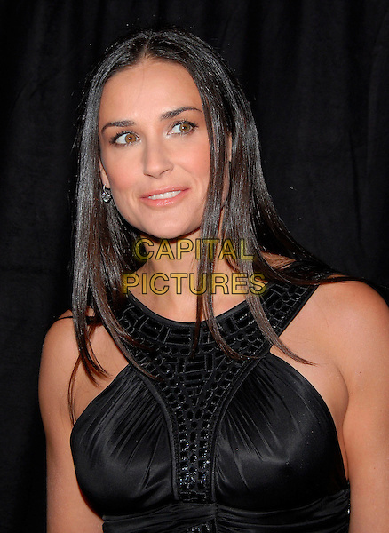 DEMI MOORE.Attends The Rodeo Drive Walk Of Style Award honoring Gianni and Donatella Versace held at The Beverly Hills City Hall in Beverly Hills, California, USA,.February 08 2007..half length black dress gown.CAP/DVS.©Debbie VanStory/Capital Pictures