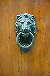 Europe, Italy, Tuscany, Florence, Lion Door Knocker