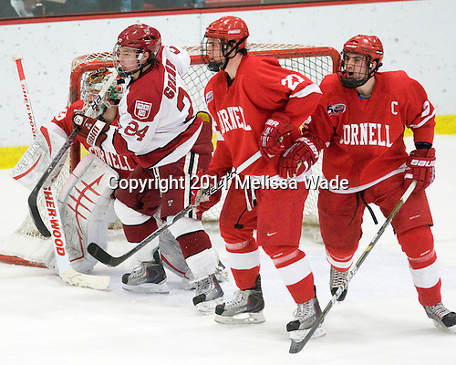 Andy Iles (Cornell - 33), Luke Greiner (Harvard - 24), Mathieu Brisson (Cornell - 27), Joe Devin (Cornell - 22) - The visiting Cornell University Big Red defeated the Harvard University Crimson 2-1 on Saturday, January 29, 2011, at Bright Hockey Center in Cambridge, Massachusetts.