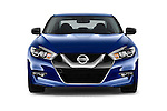 Car photography straight front view of a 2016 Nissan Maxima S 4 Door Sedan Front View