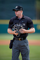 Home plate umpire Mark Stewart during a game between the Daytona Tortugas and the Florida Fire Frogs on April 8, 2018 at Osceola County Stadium in Kissimmee, Florida.  Daytona defeated Florida 2-1.  (Mike Janes/Four Seam Images)