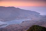 Overlooking Catalina Harbor at sunset, Two Harbors, Catalina Island, California