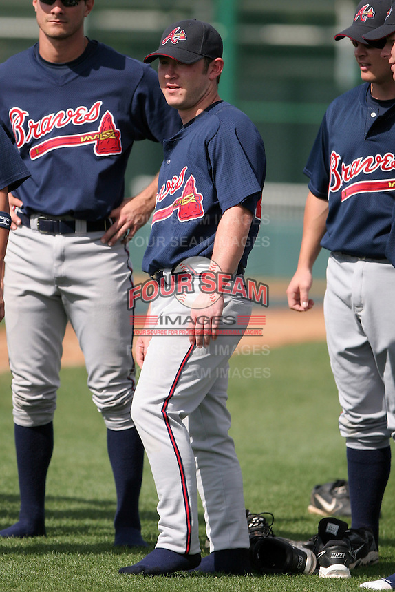 Atlanta Braves minor leaguer Matt Young during Spring Training at Disney's Wide World of Sports on March 15, 2007 in Orlando, Florida.  (Mike Janes/Four Seam Images)