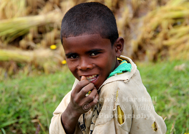 Young Malagasy boy smiles for the camera. Diego Suarez - Northern Madagascar.