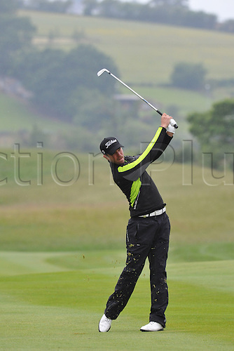 05.06.2011 Oscar Floren (SWE) in action during round 4 of the  Saab Wales Open Golf Championship from Celtic Manor on the Twenty Ten Course in Newport Gwent Wales.