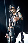 Ashley Purdy of Black Veil Brides performs during the 2013 Rock On The Range festival at Columbus Crew Stadium in Columbus, Ohio.
