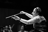 Antonia Brico, led her own orchestra in New York in the 1930's and devoted her life to fighting prejudice against women in the orchestral world. She was the first woman to conduct the Berlin Philharmonic and New York Philharmonic, seen here conducting here In Cambridge MA 1977
