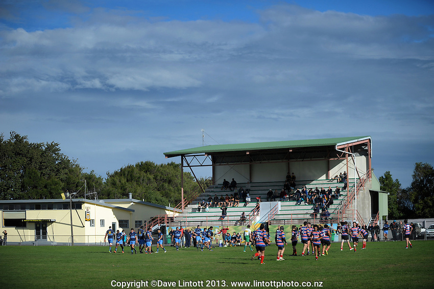 A general view during the Manawatu Club Rugby match between FOB-Oroua Stags and Kia Toa at Johnson Park, Feilding, New Zealand on Saturday, 20 April 2013. Photo: Dave Lintott / lintottphoto.co.nz