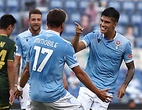 Football, Serie A: S.S. Lazio - Brescua, Olympic stadium, Rome, July 29, 2020. <br /> Lazio's  Ciro Immobile in action during the Italian Serie A football match between S.S. Lazio and Brescia at Rome's Olympic stadium, Rome, on July 29, 2020. <br /> UPDATE IMAGES PRESS/Isabella Bonotto