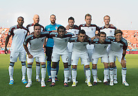 18 July 2012: The Colorado Rapids starting eleven during an MLS game between the Colorado Rapids and Toronto FC at BMO Field in Toronto..Toronto FC won 2-1..