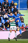 Paulo Oliveira of SD Eibar (L) fights for the ball with Portillo Soler of Getafe CF (G) during the La Liga 2017-18 match between Getafe CF and SD Eibar at Coliseum Alfonso Perez Stadium on 09 December 2017 in Getafe, Spain. Photo by Diego Souto / Power Sport Images