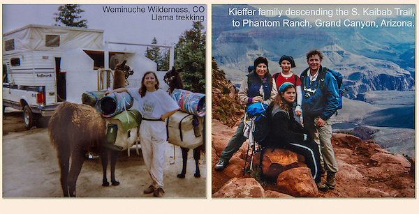Family llama trekking and backpacking to the San Juan Mountains and Grand Canyon.