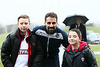 Bolton Wanderers' Filipe Morais  with young Bolton Wanderers' fans <br /> <br /> Photographer Leila Coker/CameraSport<br /> <br /> The EFL Sky Bet Championship - Bolton Wanderers v Fulham - Saturday 10th February 2018 - Macron Stadium - Bolton<br /> <br /> World Copyright &copy; 2018 CameraSport. All rights reserved. 43 Linden Ave. Countesthorpe. Leicester. England. LE8 5PG - Tel: +44 (0) 116 277 4147 - admin@camerasport.com - www.camerasport.com