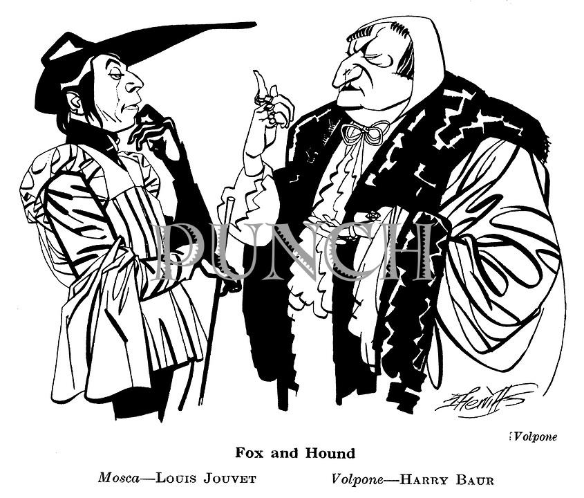 Volpone ; Louis Jouvet and Harry Baur