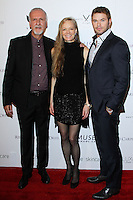 "WEST HOLLYWOOD, CA, USA - FEBRUARY 27: James Cameron, Suzy Amis Cameron, Kellan Lutz at the 5th Anniversary Celebration Of Suzy Amis Cameron's Ecofashion Campaign ""Red Carpet Green Dress"" held at Palihouse on February 27, 2014 in West Hollywood, California, United States. (Photo by David Acosta/Celebrity Monitor)"