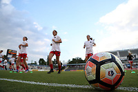 Cary, NC - Saturday April 22, 2017: Portland Thorns FC prior to a regular season National Women's Soccer League (NWSL) match between the North Carolina Courage and the Portland Thorns FC at Sahlen's Stadium at WakeMed Soccer Park.