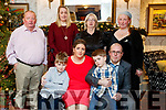 Josephine Carey, Killarney, who celebrated her 40th birthday with family and friends at the Meadowlands Hotel, Tralee, on Saturday night last, front l-r: Micheál Carey Brickley, Josephine Carey, Oisin Carey Brickley and Paul Brickley. Back l-r: Dermot Carey, Elizabeth Philipson, Nora Carey and Andrea Carey.