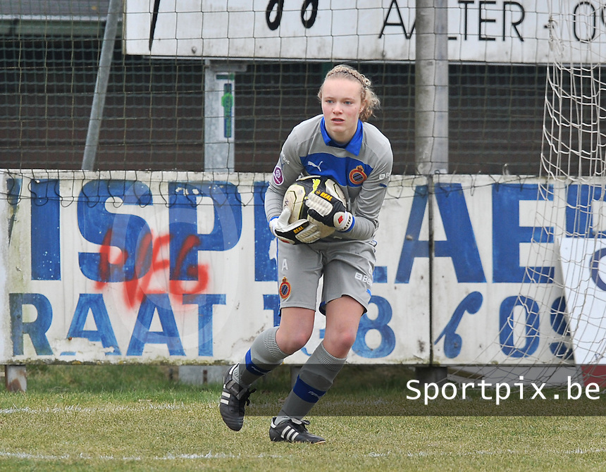 Club Brugge Dames : Jana Vanhauwaert .foto DAVID CATRY / Vrouwenteam.be