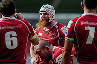 Saturday 10 May 2014<br /> Pictured: Jake Ball  ( centre )<br /> Re: Scarlets v Blues Rabo Direct Pro 12 Rugby Union Match at Parc y Scarlets, Llanelli, Wales