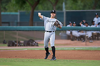 AZL White Sox third baseman Micah Coffey (15) throws to first base during an Arizona League game against the AZL Dodgers at Camelback Ranch on July 7, 2018 in Glendale, Arizona. The AZL Dodgers defeated the AZL White Sox by a score of 10-5. (Zachary Lucy/Four Seam Images)