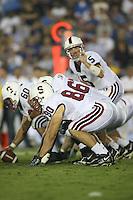 1 October 2006: Erik Lorig during Stanford's 31-0 loss to UCLA at the Rose Bowl in Pasadena, CA.