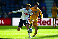 Preston North End's Tom Barkhuizen battles for the ball<br /> <br /> Photographer Richard Martin-Roberts/CameraSport<br /> <br /> The EFL Sky Bet Championship - Preston North End v Wigan Athletic - Saturday 6th October 2018 - Deepdale Stadium - Preston<br /> <br /> World Copyright &not;&copy; 2018 CameraSport. All rights reserved. 43 Linden Ave. Countesthorpe. Leicester. England. LE8 5PG - Tel: +44 (0) 116 277 4147 - admin@camerasport.com - www.camerasport.com