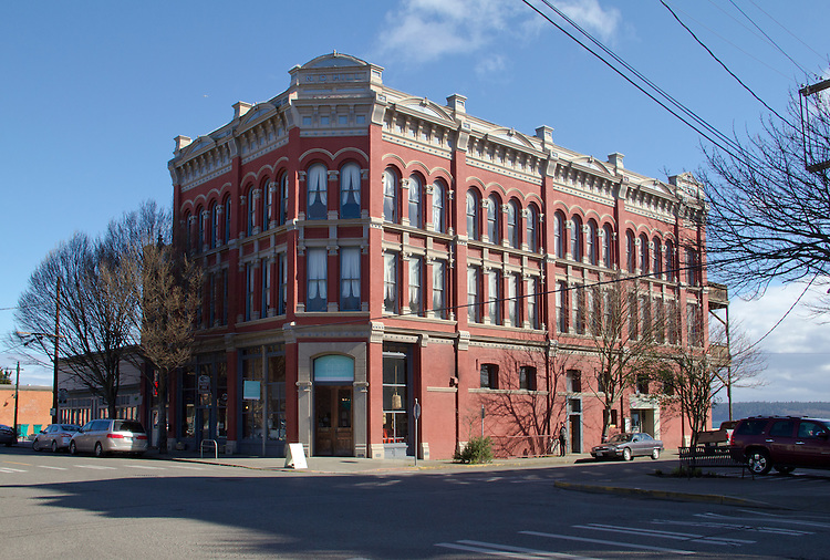 Port Townsend, Water Street, N D Hill building, Victorian architecture, Jefferson County, Olympic Peninsula, Washington State, Port Townsend Historic District,