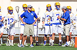 Santa Barbara, CA 04/16/16 - UCSB coach Mike Allen looks at the on field action.