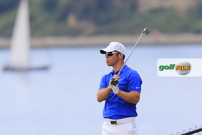 Paul CASEY (ENG) on the 16th tee during Thursday's Round 1 of the 2015 U.S. Open 115th National Championship held at Chambers Bay, Seattle, Washington, USA. 6/18/2015.<br /> Picture: Golffile | Eoin Clarke<br /> <br /> <br /> <br /> <br /> All photo usage must carry mandatory copyright credit (&copy; Golffile | Eoin Clarke)