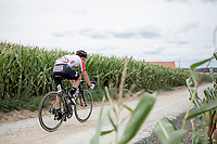 Remy Mertz (BEL/Lotto Soudal) over  the Plugstreets Gravel Sections. <br /> <br /> <br /> 1st Great War Remembrance Race 2018 (UCI Europe Tour Cat. 1.1) <br /> Nieuwpoort &gt; Ieper (BE) 192.7 km