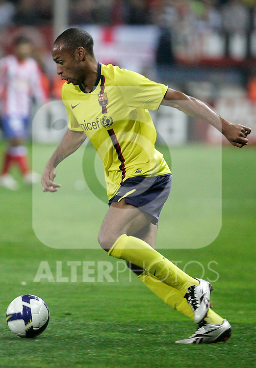 Barcelona's Thierry Henry during La Liga match, March 01, 2009. (ALTERPHOTOS/Alvaro Hernandez).
