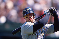 SAN FRANCISCO, CA - Jeff Bagwell of the Houston Astros in action during a game against the San Francisco Giants at Candlestick Park in San Francisco, California on April 7, 1998. Photo by Brad Mangin