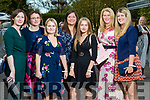 Marie Beirne and Mary Galvin (Kilflynn),  Lisa Tomkinson , Alex Smith and Stephanie Tomkinson (UK) with Mags Murphy (Lixnaw) and Liz Galvin (Kilflynn) at the Rose of Tralee fashion show at the dome on Sunday night.