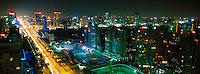 Night view of Beijing CBD, China..