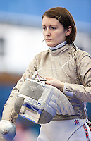 27 FEB 2011 - LONDON, GBR - Britain's Chrystall Nicoll prepares for a match during fencing's England Cup team sabre tournament at  the National Sports Centre at Crystal Palace .(PHOTO (C) NIGEL FARROW)