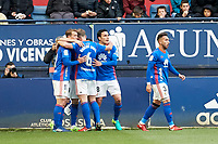 Real Oviedo during the Spanish la League soccer match between CA Osasuna and Real Oviedo at Sadar stadium, in Pamplona, Spain, on Saturday, <br /> May 12, 2018.