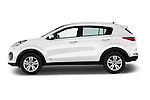 Car Driver side profile view of a 2016 KIA Sportage GT-Line 5 Door Suv Side View