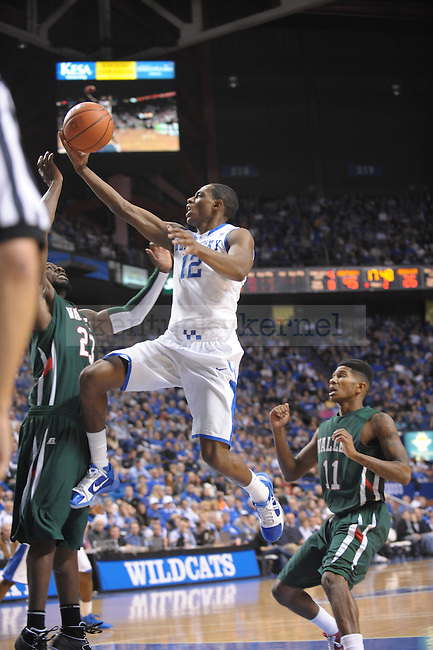 UK's Brandon Knight laying it up during the second half of the University of Kentucky Men's basketball game against Mississippi Valley State at Rupp Arena in Lexington, Ky., on 12/18/10. Uk won the game 85-60. Photo by Mike Weaver | Staff