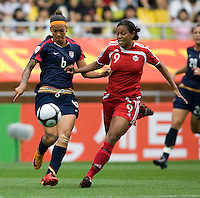 Natasha Kai, Candace Chapman.  The USWNT defeated Canada, 1-0, at Suwon World Cup Stadium in Suwon, South Korea, to win the Peace Queen Cup.